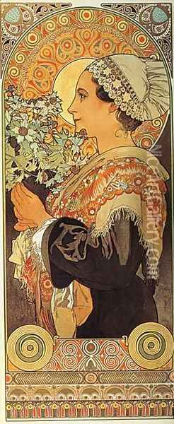 Thistle from the Sands. 1902 Oil Painting - Alphonse Maria Mucha