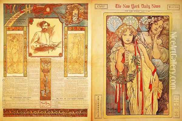 The New York Daily News, 1904 Oil Painting - Alphonse Maria Mucha