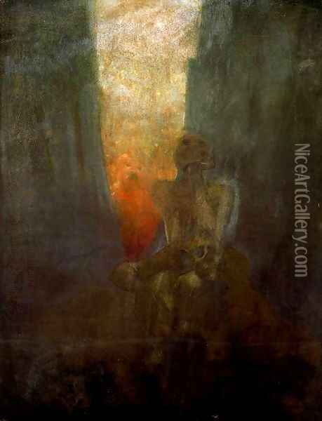 The abyss Oil Painting - Alphonse Maria Mucha