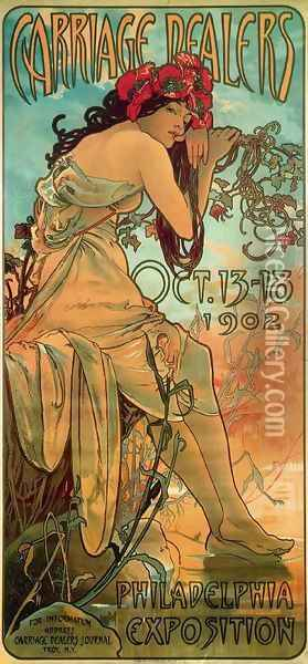 Carraige Dealers Oil Painting - Alphonse Maria Mucha