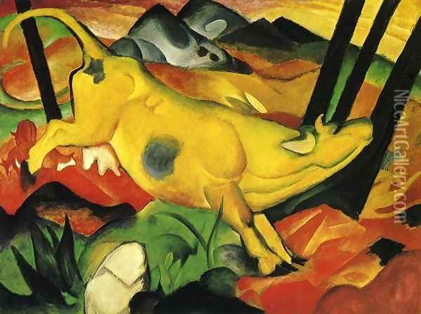 The Yellow Cow Oil Painting - Franz Marc