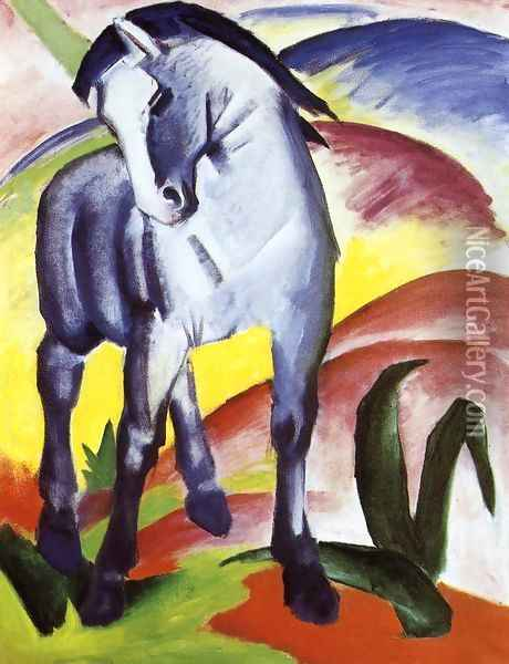 Blue Horse I Oil Painting - Franz Marc