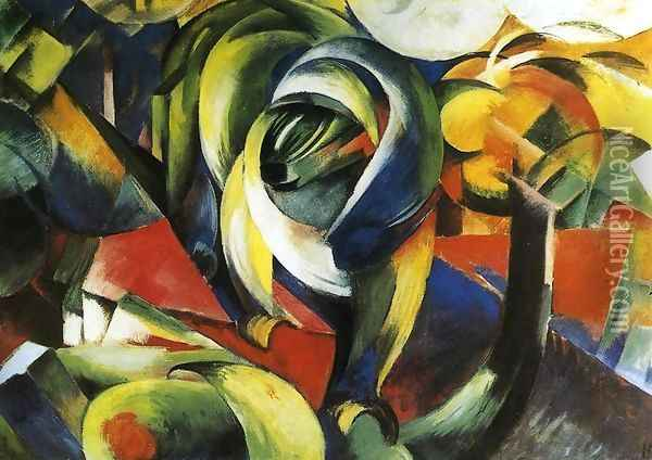 The Mandrill Oil Painting - Franz Marc