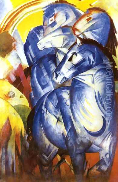 The Tower Of Blue Horses Oil Painting - Franz Marc