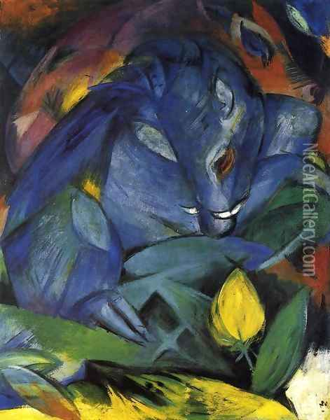 Wild Pigs (boar And Sow) Oil Painting - Franz Marc