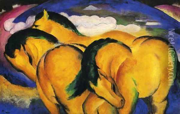 The Little Yellow Horses Oil Painting - Franz Marc