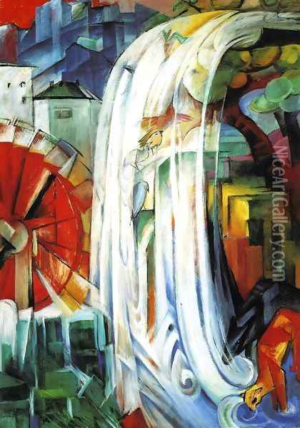 The Enchanted Mill Oil Painting - Franz Marc
