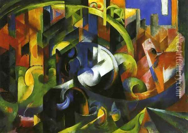 Picture With Cattle Oil Painting - Franz Marc