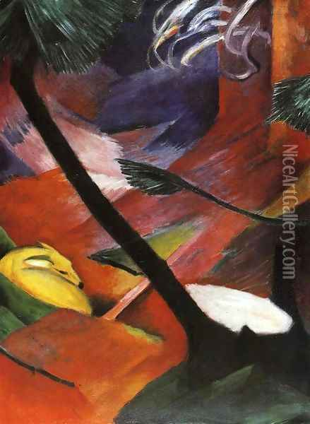 Deer In The Forest II Oil Painting - Franz Marc