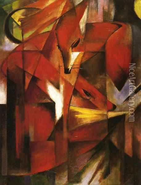 Foxes Oil Painting - Franz Marc