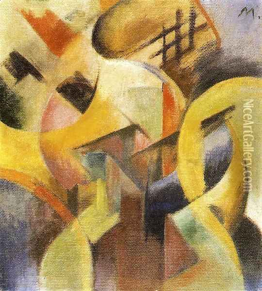 Small Composition I Oil Painting - Franz Marc