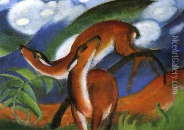 Red Deer II Oil Painting - Franz Marc