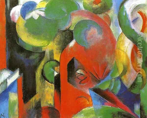 Small Composition III Oil Painting - Franz Marc