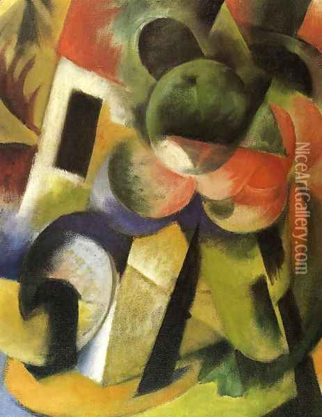 Small Composition II Oil Painting - Franz Marc