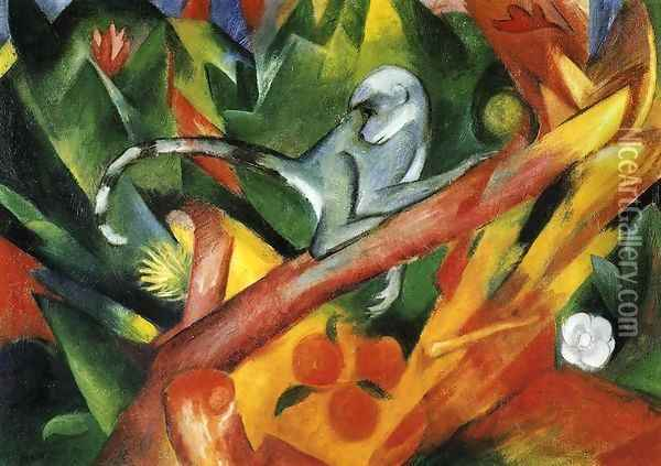 The Monkey Oil Painting - Franz Marc