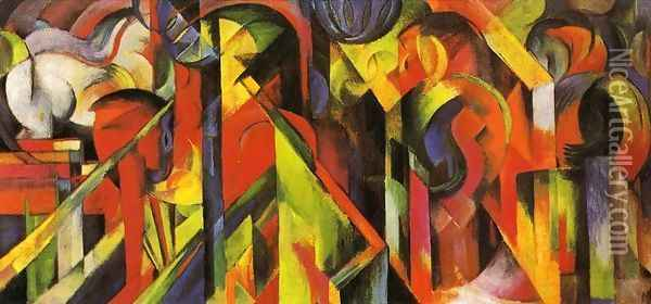 Stables2 Oil Painting - Franz Marc