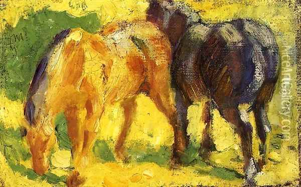 Small Horse Picture Oil Painting - Franz Marc