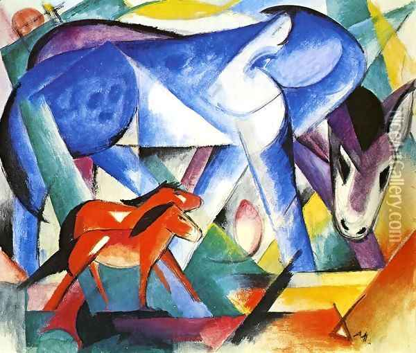 The First Animals Oil Painting - Franz Marc