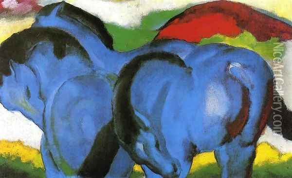 The Little Blue Horses Oil Painting - Franz Marc
