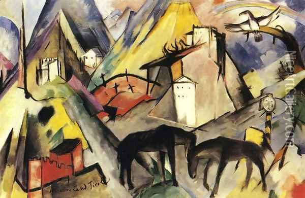 The Unfortunte Land Of Tyrol Oil Painting - Franz Marc