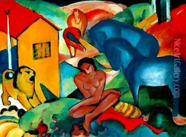 The Dream Oil Painting - Franz Marc