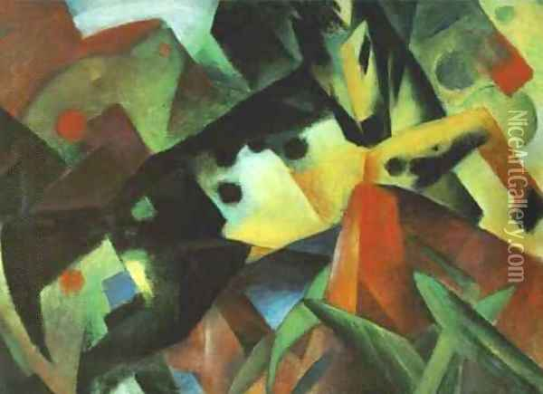 The Leaping Horse Oil Painting - Franz Marc
