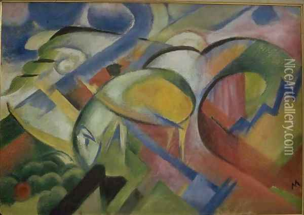 The Lamb Oil Painting - Franz Marc