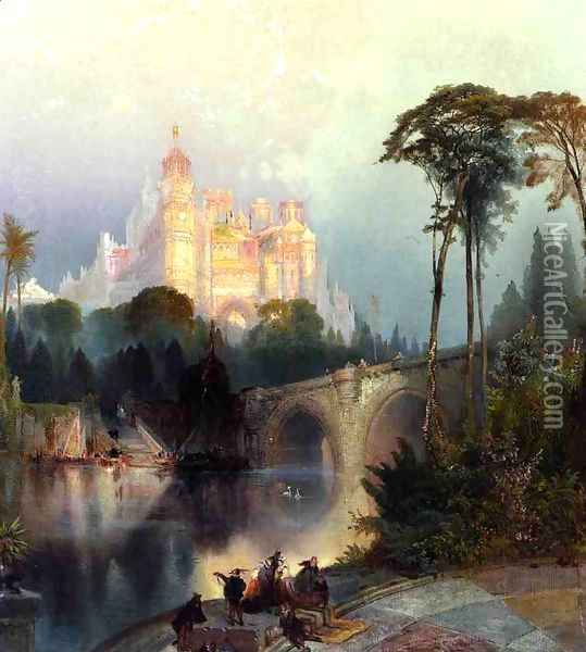 Fantastic Landscape Oil Painting - Thomas Moran