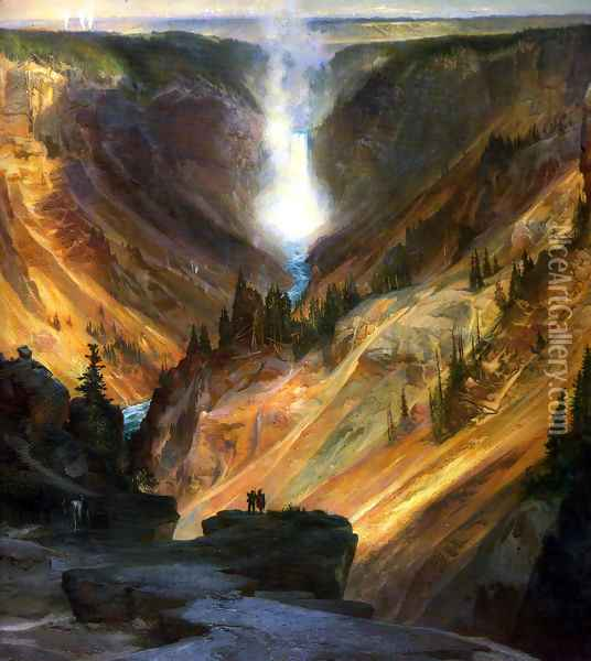 The Grand Canyon of the Yellowstone Oil Painting - Thomas Moran
