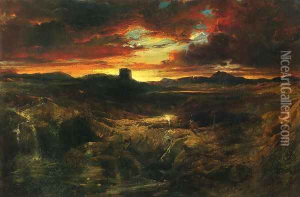 Childe Roland to the Dark Tower Came Oil Painting - Thomas Moran