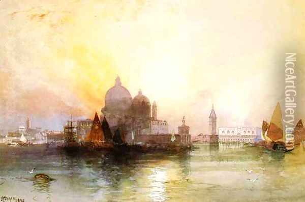 A View Of Venice Oil Painting - Thomas Moran