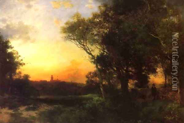 Mexican Landscape near Cuernavaca Oil Painting - Thomas Moran