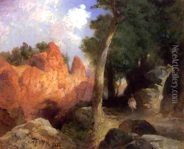 Canyon Of The Clouds Oil Painting - Thomas Moran