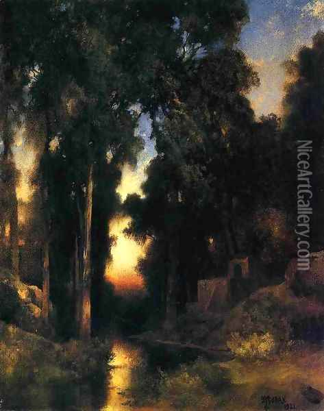 Mission In Old Mexico Oil Painting - Thomas Moran