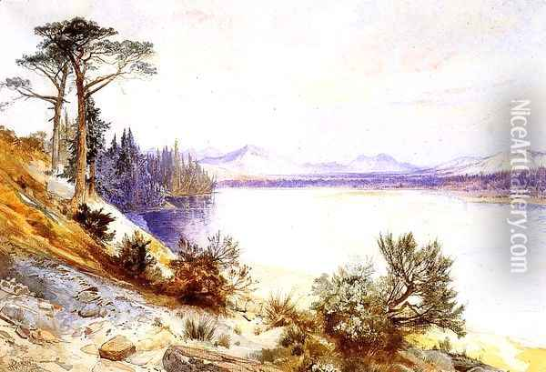Head Of The Yellowstone River Oil Painting - Thomas Moran