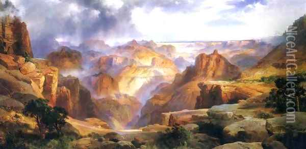 Grand Canyon IV Oil Painting - Thomas Moran