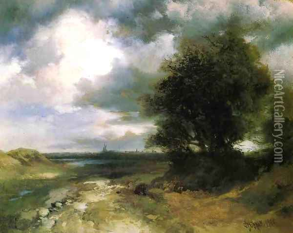 East Moriches Oil Painting - Thomas Moran