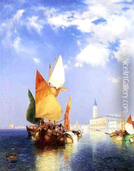 The Grand Canal, Venice Oil Painting - Thomas Moran
