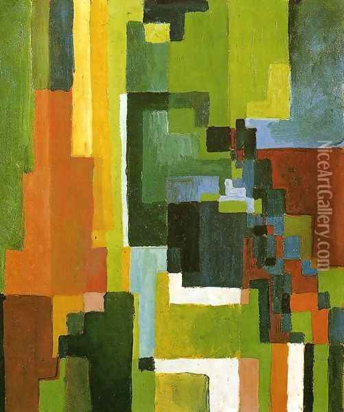 Coloured Forms II Oil Painting - August Macke