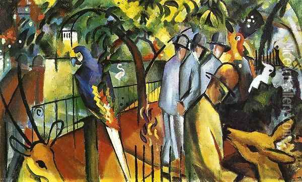 Zoological Garden I 1912 Oil Painting - August Macke