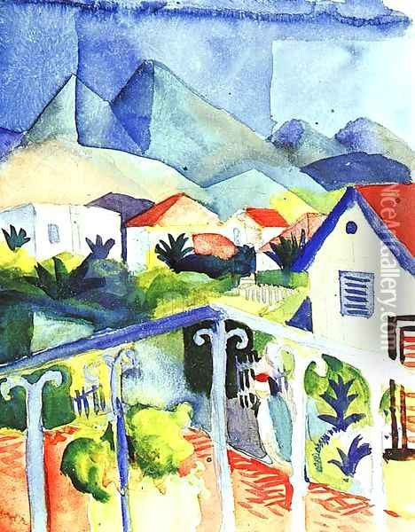 St. Germain near Tunis 1914 Oil Painting - August Macke