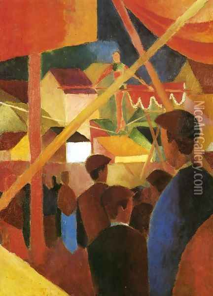Tightrope Walker (Seiltanzer) 1914 Oil Painting - August Macke