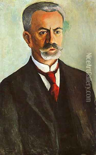 Portrait of Bernhard Koehler 1910 Oil Painting - August Macke