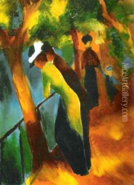 Sunny Road Oil Painting - August Macke