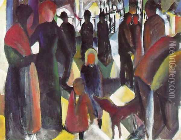 Farewell Oil Painting - August Macke