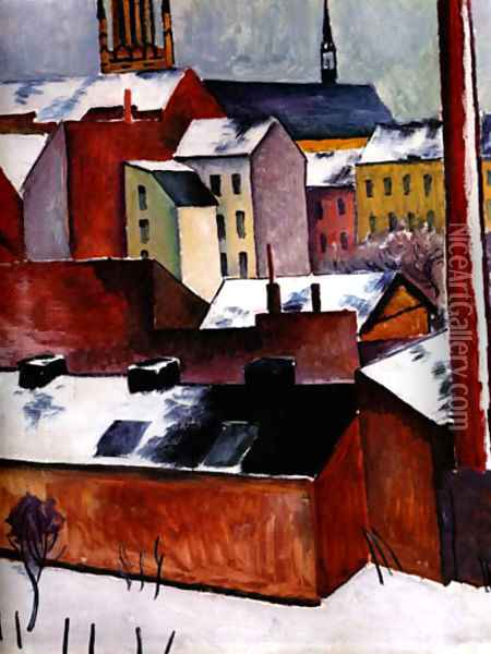 The Storm (1911) Oil Painting - August Macke