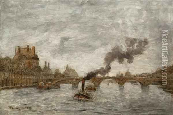 Pont Royale Oil Painting - Frank Myers Boggs