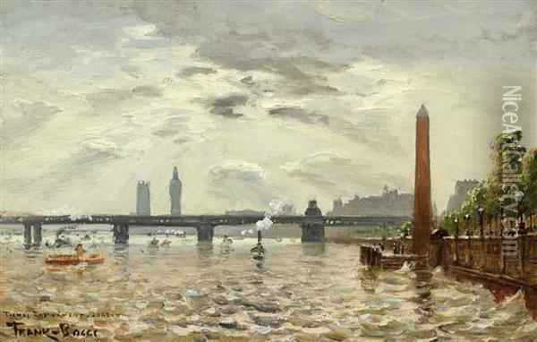On The Thames Oil Painting - Frank Myers Boggs