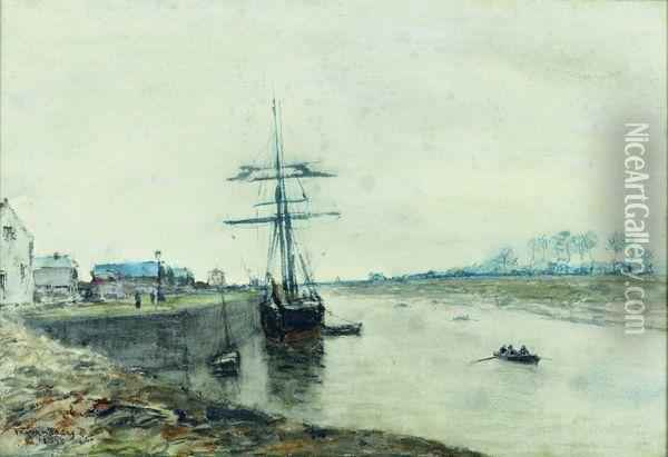 Le Port D'isigny Oil Painting - Frank Myers Boggs