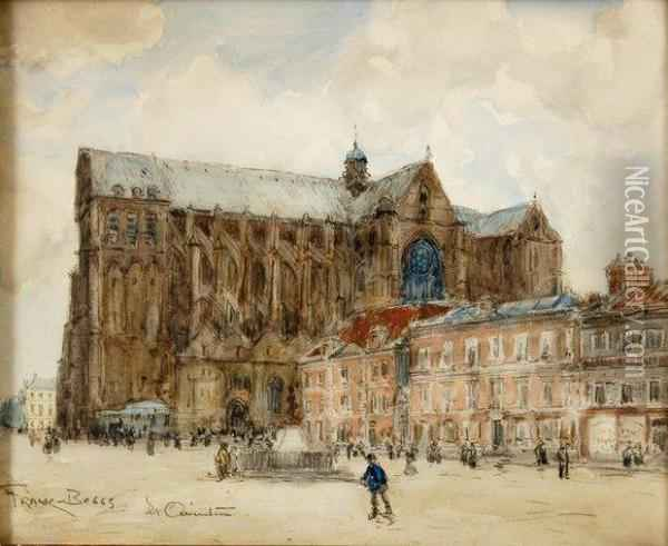 Cathedrale De Saint Quentin Oil Painting - Frank Myers Boggs